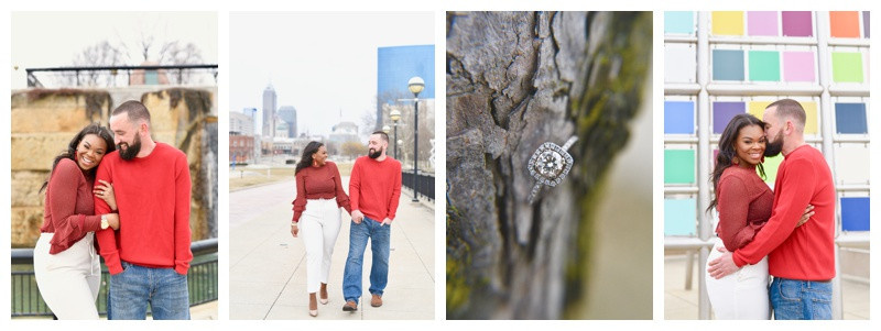 Downtown Indianapolis Engagement Session: Diva & Michael
