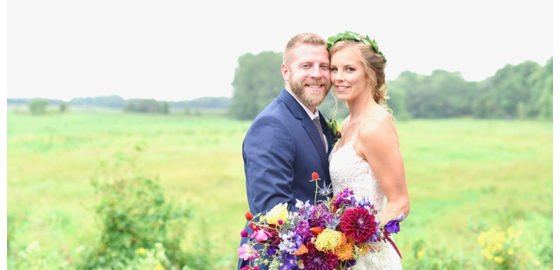 PUBLISHED: Love & Lavender- Wildflower Filled Midwest Barn Wedding