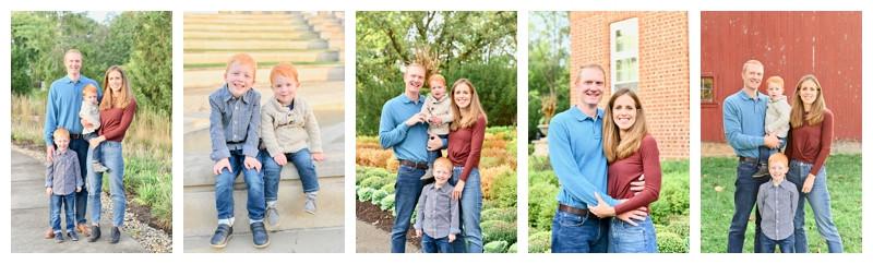 Coxhall Gardens Carmel Indiana Family Session: Feauto Family