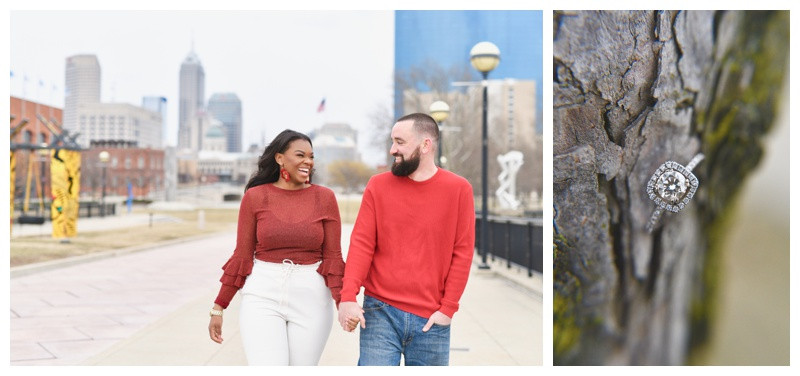 PUBLISHED: Weddings In Indiana- Urban Downtown Indianapolis Engagement