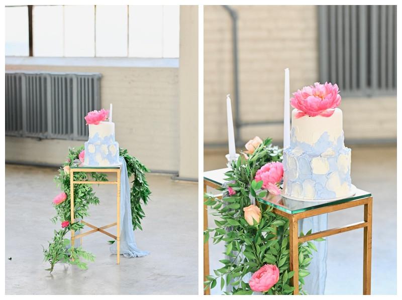 Blue Watercolor Wedding Cake Inspiration Cleveland Ohio Wedding Photographer