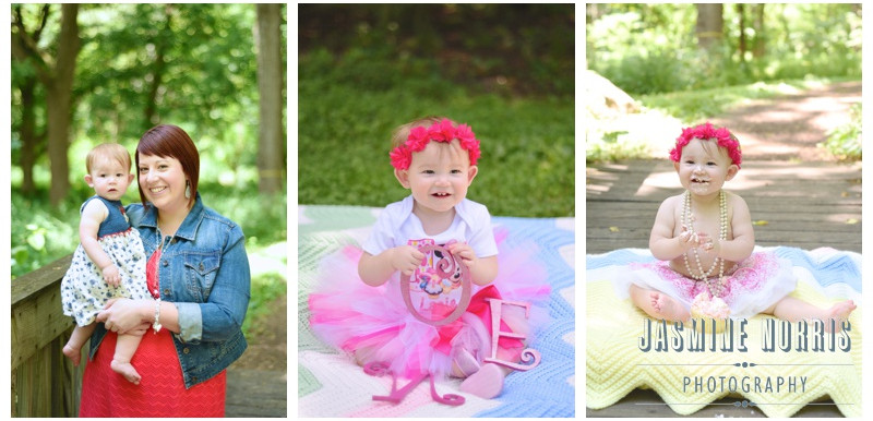 Lafayette Indiana 1Year Portraits and Cake Smash- Lacie