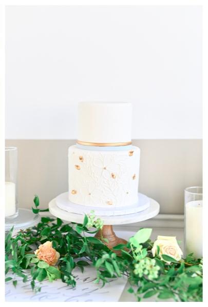 Wedding Cake With Greenery Cleveland Ohio