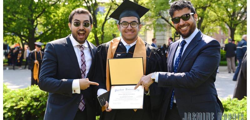 Almudhaf Family Post Purdue University Commencement Portraits