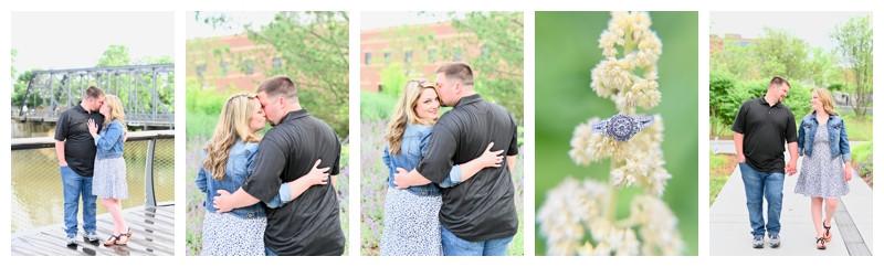 Fort Wayne Indiana Promenade Park Engagement: Alicia & Jordan