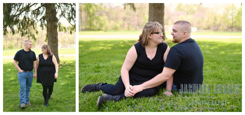 Delphi Indiana Riley Park Engagement Photographer Photography