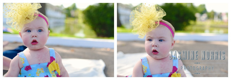 Columbian Park Lafayette Indiana 6 Month Girl Portraits Children Photography