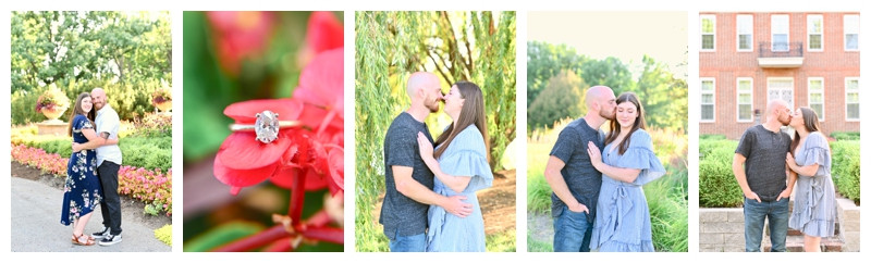 Coxhall Gardens Carmel Indiana Engagement: Lauren & David