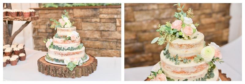 Naked Wedding Cake Inspiration Crystal Coop Indiana Wedding Photographer