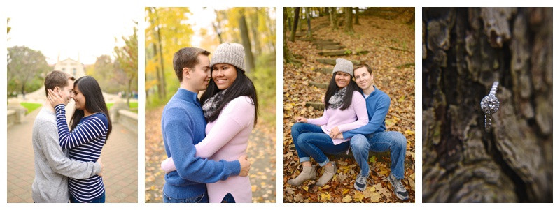Purdue University and Happy Hollow West Lafayette Indiana Engagement: Annie & Noah