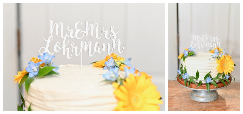 Floral Wedding Cake Inspiration JLH Wedding Barn Indiana Wedding Photographer