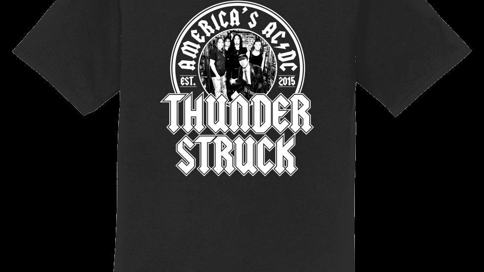 Thunderstruck Unisex Crew Neck Logo Tee w/ Band Photo