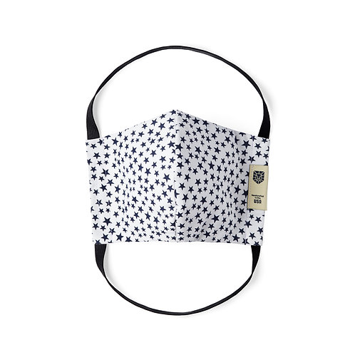 Limited Edition Face Mask - Blue Stars on White