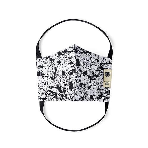 Limited Edition Face Mask - Black Splatter