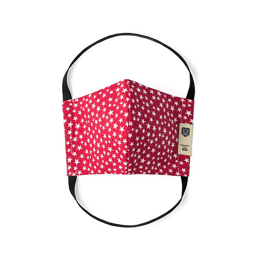 Limited Edition Face Mask - White Stars on Red