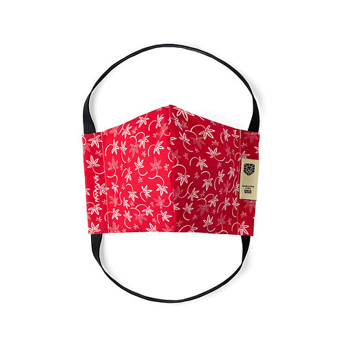 Limited Edition Face Mask - Red Lily