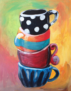 stacked mugs adult canvas