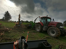 Tractor forestry site clearance Suffolk