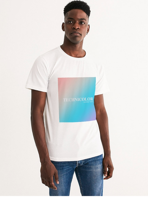 Technicolor Tee - White with Center