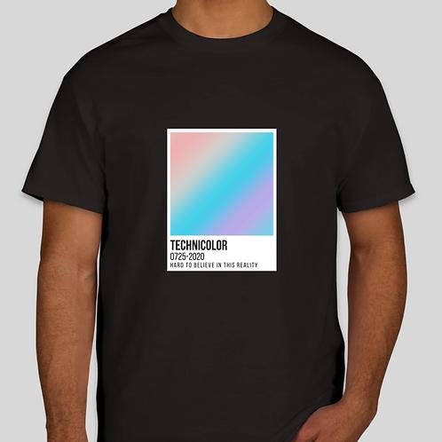 Technicolor Tee - Black with Card Center