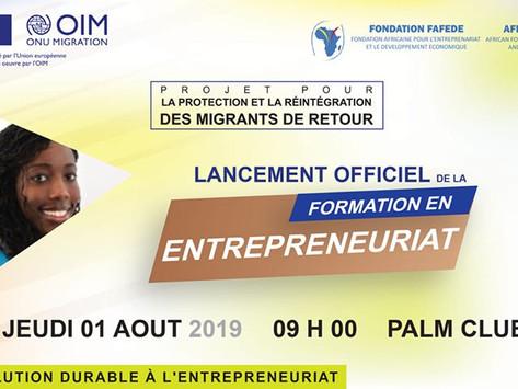 LANCEMENT OFFICIEL DE LA FORMATION EN ENTREPRENEURIAT DES MIGRANTS DE RETOUR