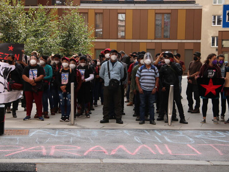 Zapatistas en Austria se unen a protestas ante la embajada mexicana de Viena