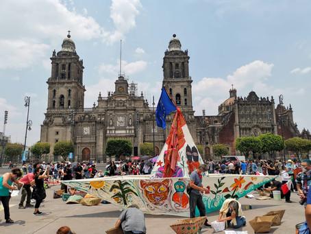 Evento de despedida en CDMX a la Delegación marítima Zapatista