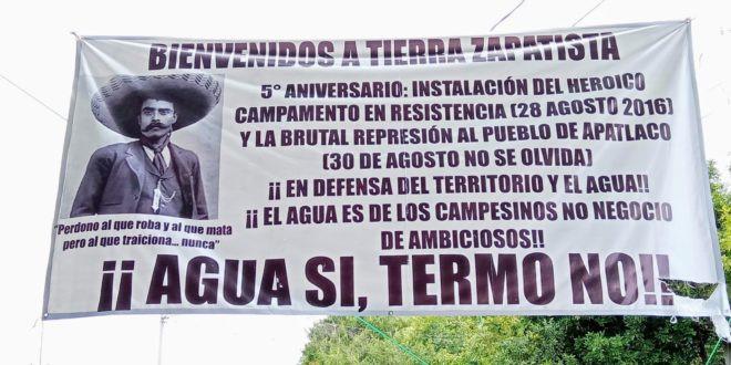 Hereder@s de la revolución zapatista en Morelos acompañan la Travesía por la Vida del EZLN