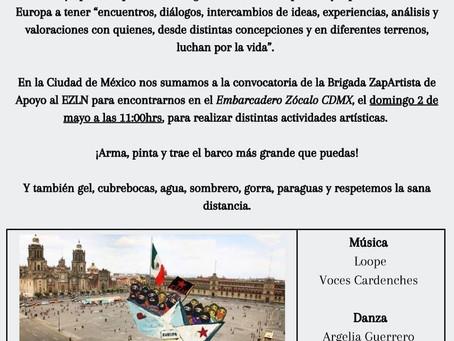 Despedida al Escuadrón 421(La Delegación marítima Zapatista)