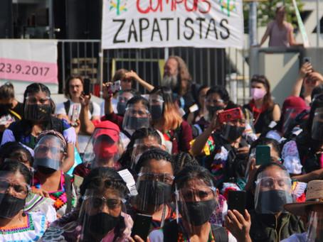 Aterriza en Europa y habla en Viena la delegación aerotransportada del EZLN