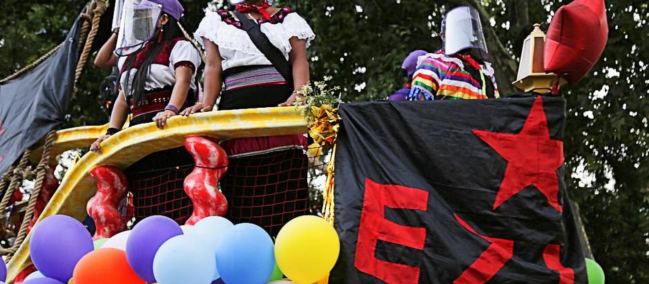 ¡No nos Conquistaron!: La marcha zapatista en Madrid y el llamado a unirnos en defensa de la vida
