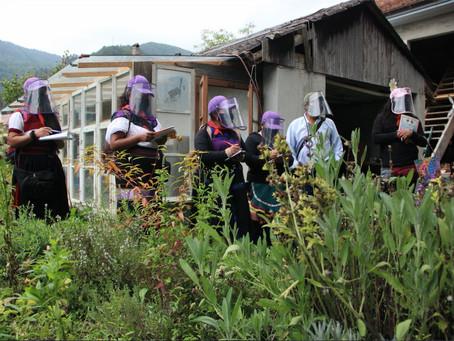 Delegación marítima del #EZLN #Chiapas intercambia con colectivos de familias que trabajan la tierra