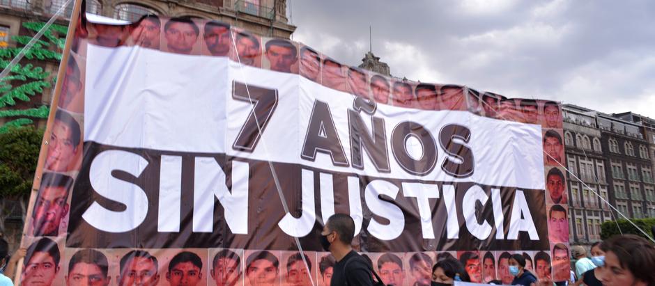 A 7 años de la desaparición forzada de 43 normalistas de Ayotzinapa
