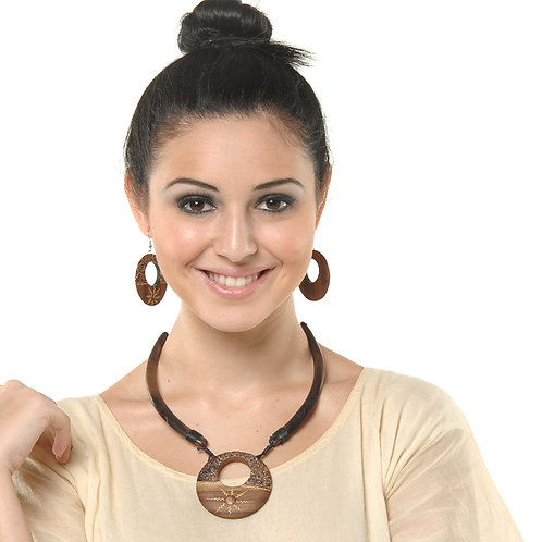 HAUTE SPROUT - WOODEN NECKLACE SET - WC370