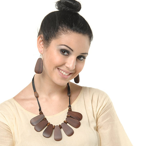 HAUTE SPROUT - WOODEN NECKLACE SET - JN354