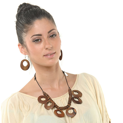 HAUTE SPROUT - WOODEN NECKLACE SET - JNS90