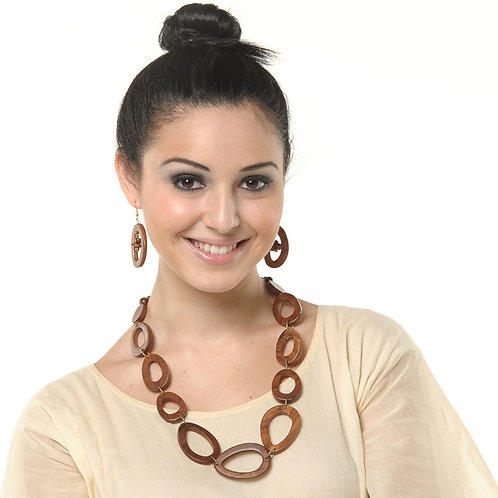 HAUTE SPROUT - WOODEN NECKLACE - WC400