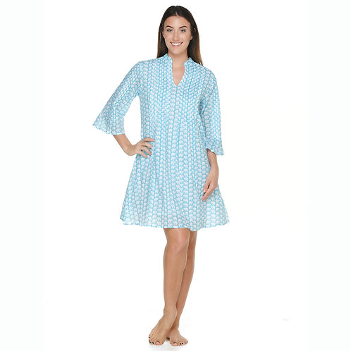 RILEY DRESS - Sea Blue Elephants
