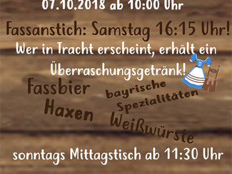 2. Oktoberfest beim SV Neuhausen