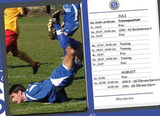Fahrplan Vorbereitung Juli/August