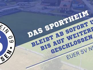 Sportheim bleibt vorerst geschlossen
