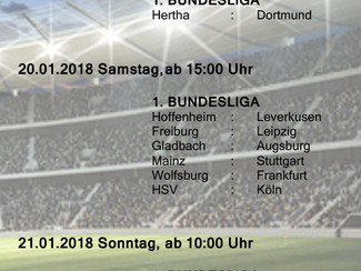 Bundesliga beim SVN - 19. Spieltag