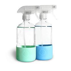 Glass refillable spray bottles