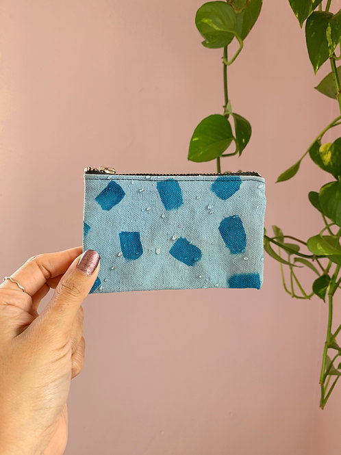Maya Blue Zip Wallet