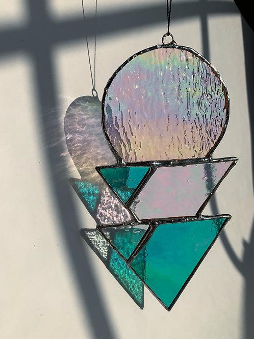 Five Point Iridescent Suncatcher
