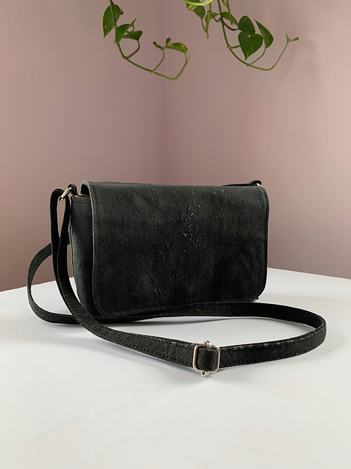 Black Ombre Waxed Canvas Purse
