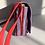 Thumbnail: Red & Purple Striped Waxed Canvas Purse