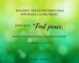 """""""EGO SAYS, """"ONCE EVERYTHING FALLS INTO P"""