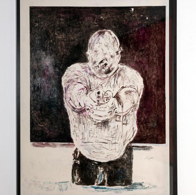 TARGET, 2019  Acryl auf Karton ca. 190 x 150 cm