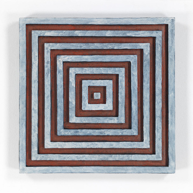 MITTELPUNKT, 2020  Acryl auf Pappe 50 x 50 x 5 cm rückseitig signiert, datiert und betitelt